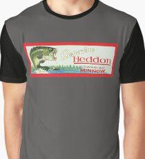 Vintage Heddon Dowagiac Minnow Lure Original Box Lid Graphic T-Shirt