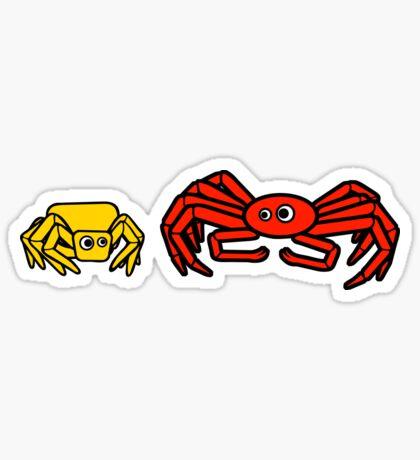 Crab Spider and Spider Crab Sticker