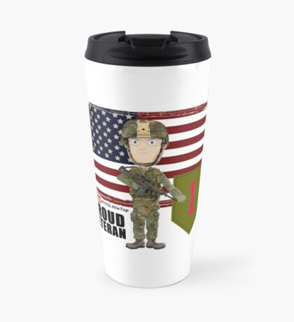 1st Infantry Division - Proud Veteran Travel Mug