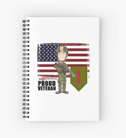 1st Infantry Division - Proud Veteran Spiral Notebook