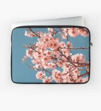 Pink Flowers Blooming Peach Tree at Spring Laptop Sleeve