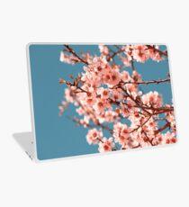 Pink Flowers Blooming Peach Tree at Spring Laptop Skin