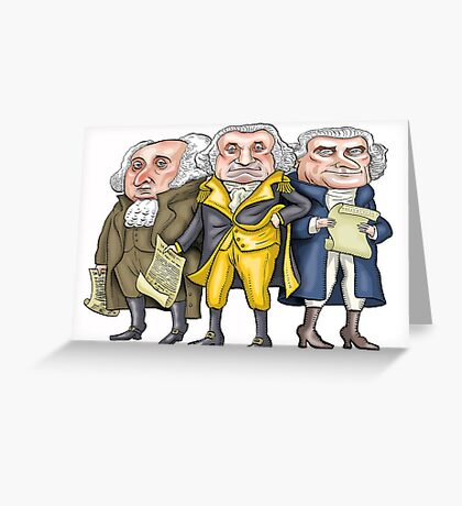 Founding Fathers | By Graeme MacKay Greeting Card