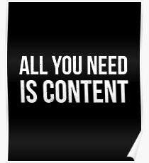 All you Need is Content Poster
