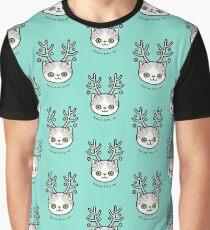 Festive Kitty Cat Graphic T-Shirt