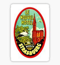 Strasbourg, Alsace, France, vintage travel sticker Sticker