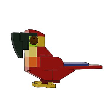 Brick Parrot by katecrashed