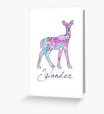 Tracy Porter / Poetic Wanderlust: Wander Greeting Card