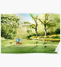 Canoeing The Rivers Of Florida II Poster