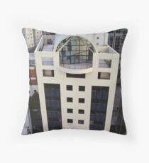 White Auckland Throw Pillow