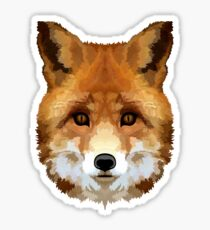 Red Fox Illustration Sticker