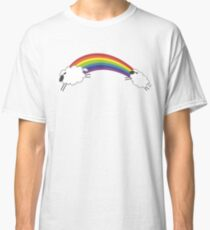 Sheep Following The Rainbow Classic T-Shirt