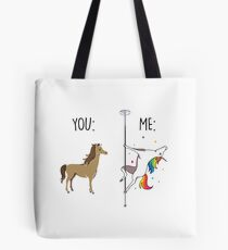 You and Me Unicorn Shirt - Black Font Tote Bag