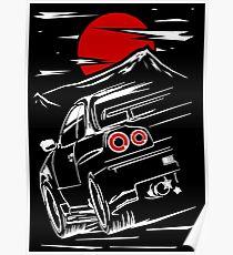 Póster Nissan Skyline GTR 34   Haruna