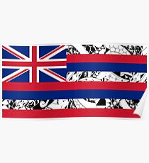 Polynesian Tribal - Flag of Hawaii Poster