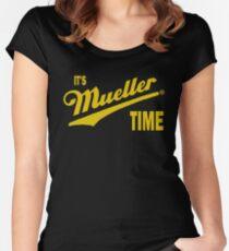 es & amp; s Mueller Zeit - GOLD Tailliertes Rundhals-Shirt