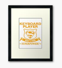 KEYBOARD PLAYER BEST COLLECTION 2017 Framed Print