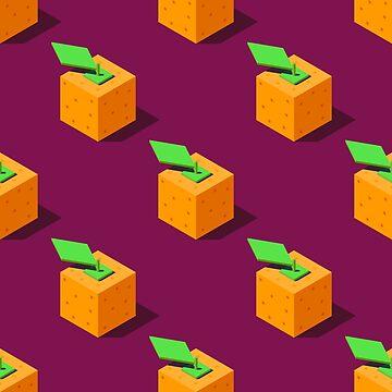 Isometric oranges pattern. by Zhitkov