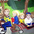 """""""Four Headed Bike"""" by Adela Camille Sutton"""