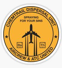 Chemtrail Dispersal Unit Sticker