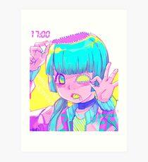 Zipper girl Art Print