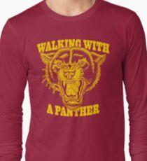 Walking with a panther tattoo design Long Sleeve T-Shirt