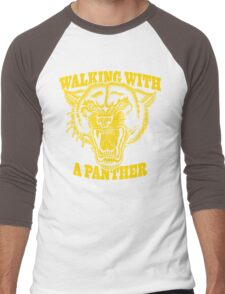 Walking with a panther tattoo design Men's Baseball ¾ T-Shirt