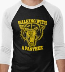 Walking with a panther tattoo design Men's Baseball ¾ T-Shirt