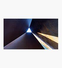 Richard Serra art sculpture in Amsterdam Photographic Print
