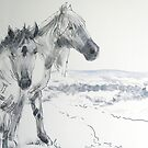 Wild Horses Drawing by MikeJory