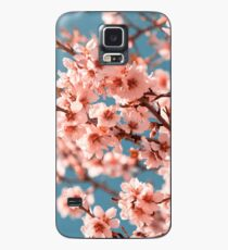 Pink Flowers Blooming Peach Tree at Spring Case/Skin for Samsung Galaxy