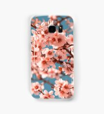 Pink Flowers Blooming Peach Tree at Spring Samsung Galaxy Case/Skin