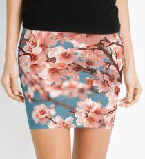 Pink Flowers Blooming Peach Tree at Spring Mini Skirt