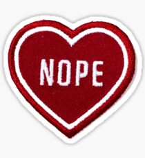 nope heart patch Sticker