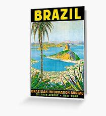 Brazil, vintage travel poster Greeting Card