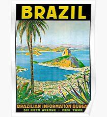 Brazil, vintage travel poster Poster