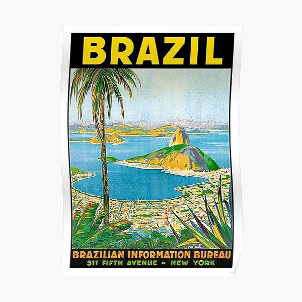 RIO JANEIRO COPACABANA BEACH GIRLS BRAZIL SOUTH AMERICA VINTAGE POSTER REPRO