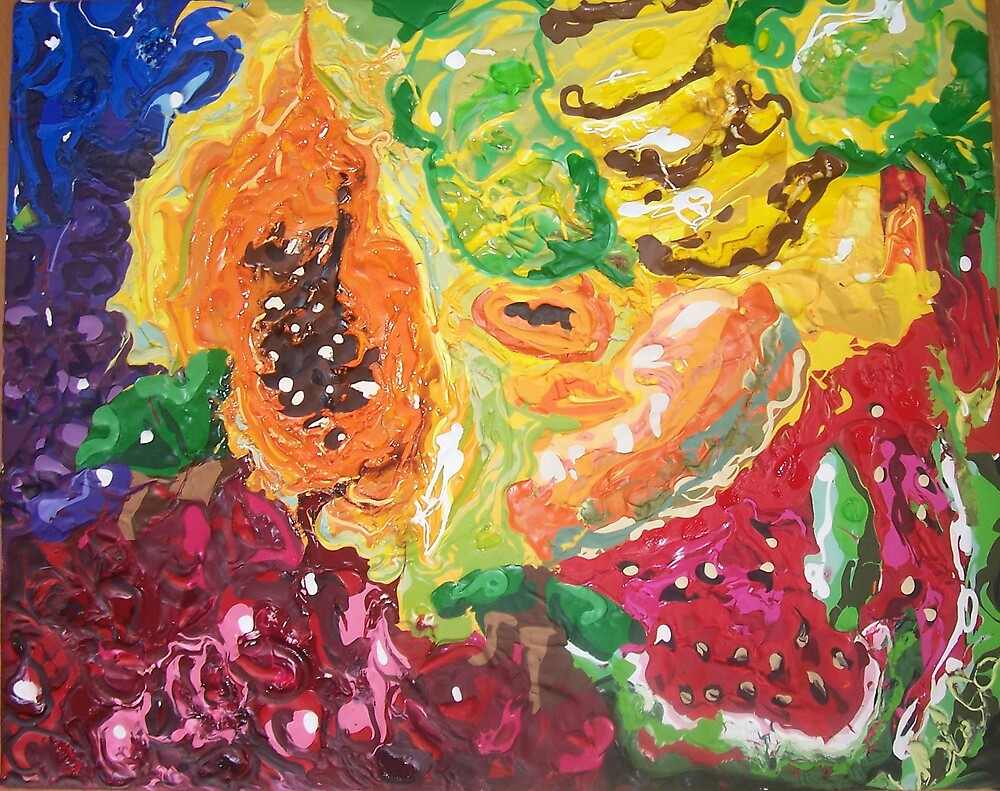 """Funky Fruit Fiesta"" by Adela bellflower"