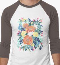 Wilde Blumen Baseballshirt mit 3/4-Arm