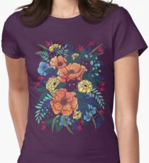 Wild Flowers Women's Fitted T-Shirt