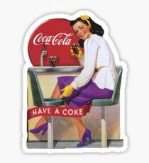 vintage coke sticker Sticker
