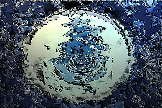 Blue Water Moon from the Altered States Collection by RoyAllen Hunt