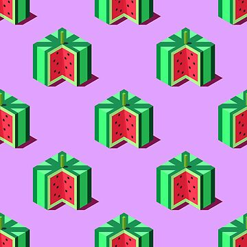 Isometric watermelons pattern. by Zhitkov