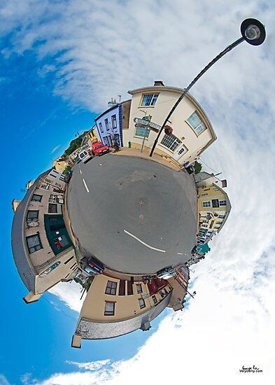 Kilcar Main Street - Sky Out by George Row