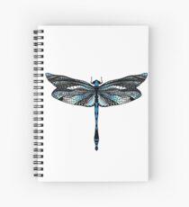 Libélula azul Spiral Notebook