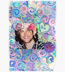 Flower Crown Sam Winchester Poster
