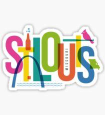 St. Louis, Missouri Typography City Collage Sticker