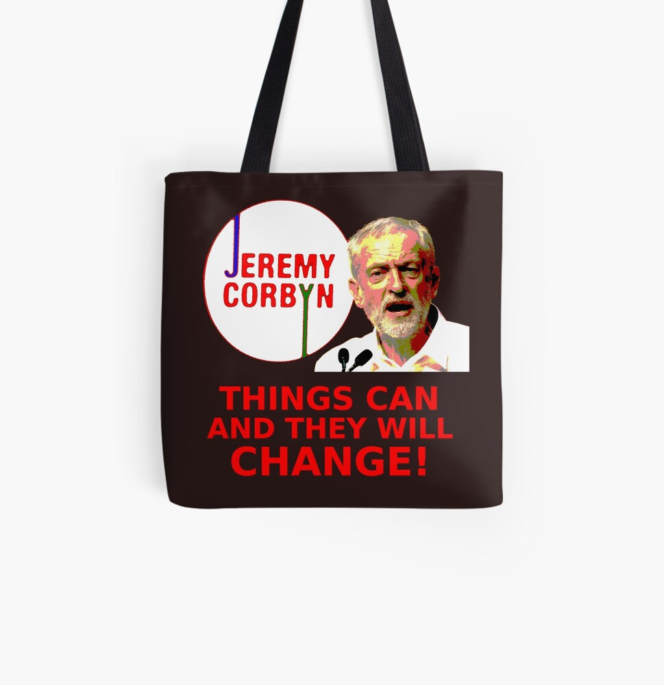 Jeremy Corbyn - Things Will Change All Over Print Tote Bag