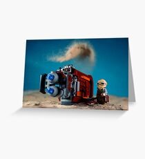 Cloudy with a chance of sandstorms Greeting Card