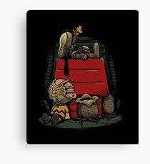 Charlie Brown t shirt Canvas Print